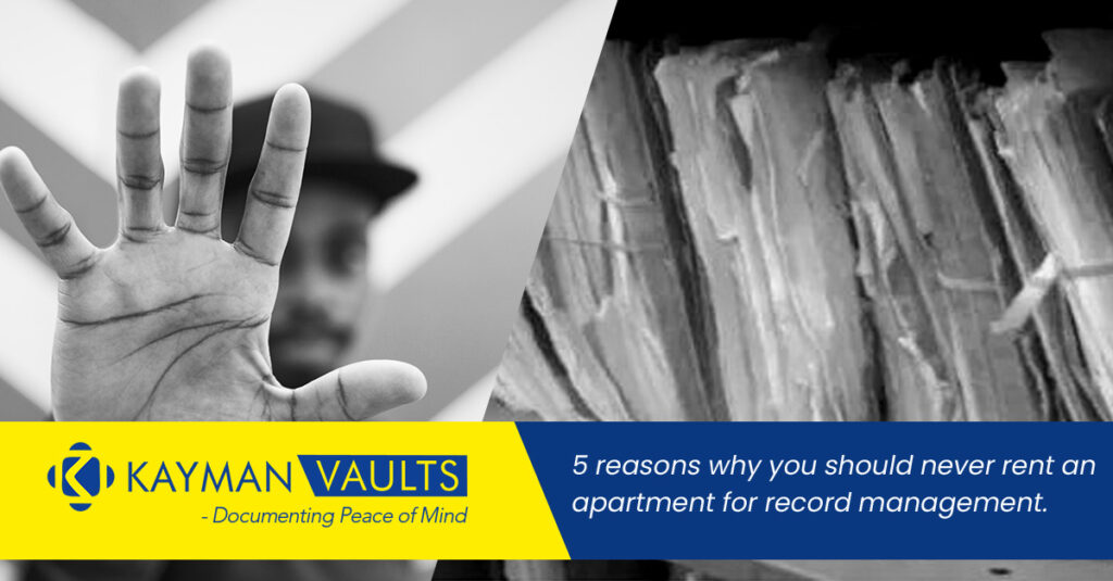 5 Reasons why you should never rent an apartment for record management.