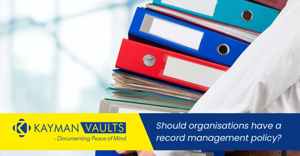 Should organisations have a record management policy?